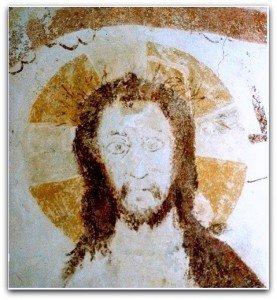Visage du Christ à la faucille