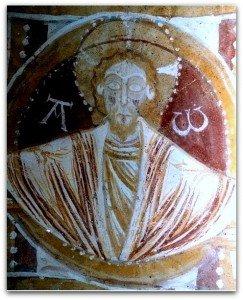 Buste de Christ à l'intrados de l'arc doubleau ouest