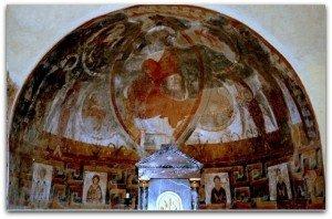 Les Allinges,ensemble des peintures de l'abside