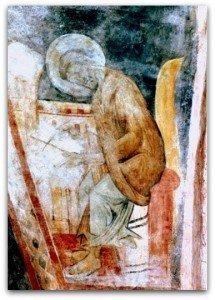 Saint Marc,la peinture est voilée par hyposécrétion d'hydroxyde de calcium