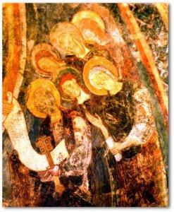 Berzé,les apotres autour de la mandorle du Christ