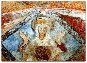 Fenollar ,Vierge orante dans une gloire losangique