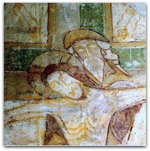 Joseph d'Arimathie soutenant le Christ