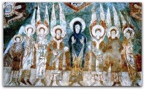 Vierge et anges au voutain oriental