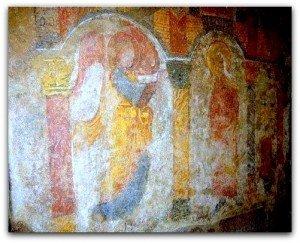 Crypte de la cathédrale de Limoges,ange Gabriel et vierge de l'annonciation
