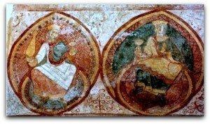 St Junien ,les Vieillards dans une double mandorle