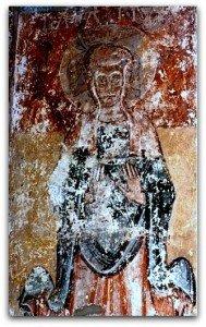Sainte Basilisse ,main en position de prière