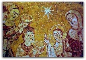 Vic,les Rois Mages apportant leurs offrandes et l'étoile du Berger