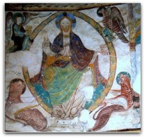 Le Christ entouré des quatre vivants à St Jacques des Guérets