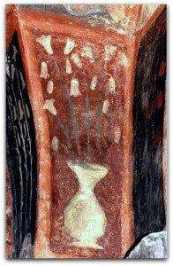 Brioude,vases de fleurs décorant un pilier