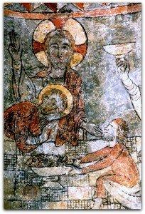 Le Christ,Jean et Judas à Angoustrine