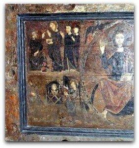 Détail du devant d'autel de La  Llagone