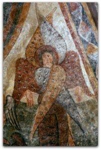Archange à la voute de l'abside