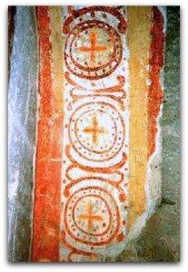 Alignement de cercles au clocher de l'ancienne abbaye de Beaulieu les Loches