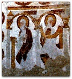 Deux saints sous une arcade