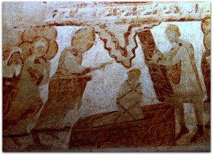 Le Christ devant Lazare réssuscité.