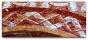 Double ruban plissé et losanges à Vic.