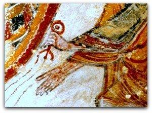 Ange agitant un encensoir(détail)