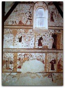 Peintures gothiques au mur sud(fin du XIII ième siècle)Genèse et enfance du Christ