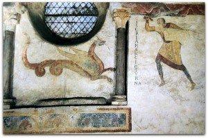 Détail des peintures du mur Sud.