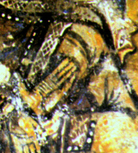 Main dispropoetionnée de la Vierge aux Salles Lavauguyon