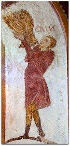 Lignières,Cain tenant une gerbe de blé