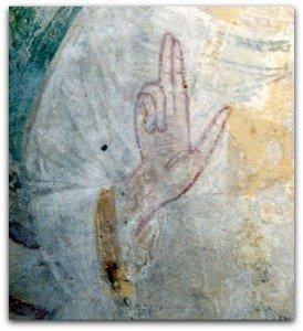 Main du Christ bénissant à Saint Plancard