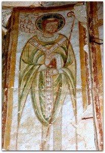 St Martial évéque dans ses habits episcopaux à Meobecq