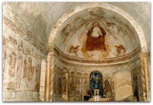 Chapelle d'Yron à Cloyes sur le Loir,ensemble des peintures