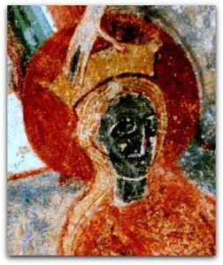 Montmorillon,le visage noir de Ste Catherine