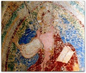 Christ en gloire à la voute du choeur