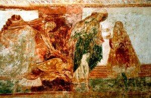 St Savin,Cain frappe Abel gisant au sol
