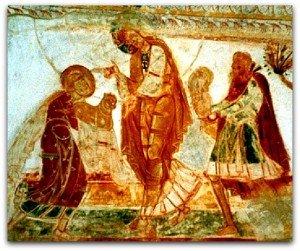 St Savin,les offrandes d'Abel et Cain