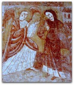 Vic,l'annonciation au mur oriental de la nef