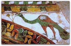 Motifs décoratifs à la chapelle du Vilar