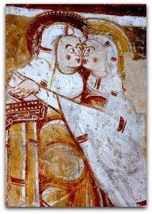 Vic,la visitation aux murs de l'abside