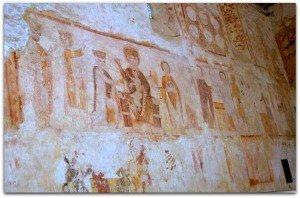 De gauche à droite,Adoration des mages,Présentation au Temple et Fuite en Egypte