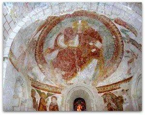 Christ en gloire à la voute de l'abside