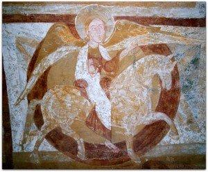 Auxerre,anges cavalier accompagnant le Christ à cheval
