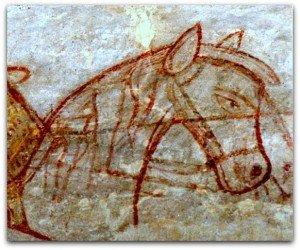 téte de cheval à Boussac Bourg