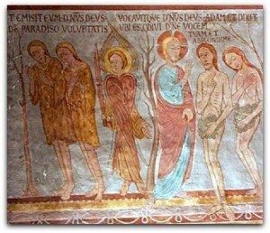 Ligniéres de Touraine,Adam et Eve chassés du Paradis terrestre.