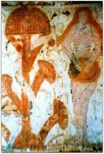 Eve nue prés de l'Arbre à la chapelle de Plaicourault (Indre)