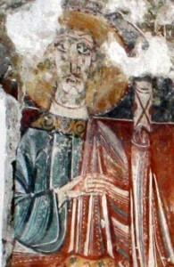 Saint Paul à l'église ariégeoise d'Ourjout(commune des Bordes sur le Lez)
