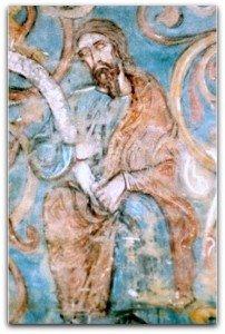 Prophéte déroulant un parchemin