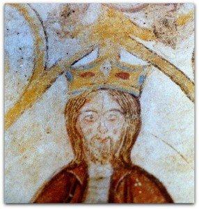 Détail du roi David avec le rameau qui s'échappe de sa couronne