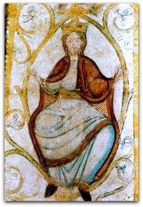 le roi David dans les rameaux de l'Arbre à Lavardin