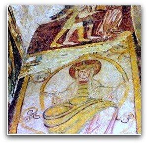 la Vierge dans les rameaux de l'arbre de Lavardin