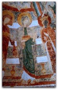 Les trois Saintes Femmes à la droite de la Vierge