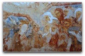 """Ste Catherine devant les """"doteurs"""" de l'empereur Maxence"""