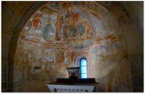 Ensemble des peintures de l'abside
